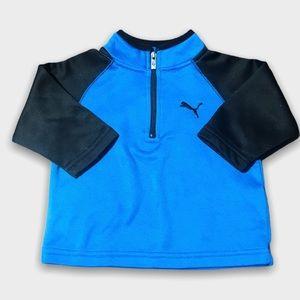 Puma Blue And Black Half Zip Jacket